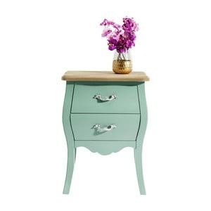 Zelená dřevěná komoda Kare Design Romantic