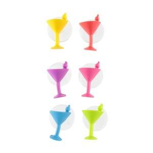 Sada 6 přísavkových rozlišovačů na koktejly Le Studio Cocktail Glass Markers