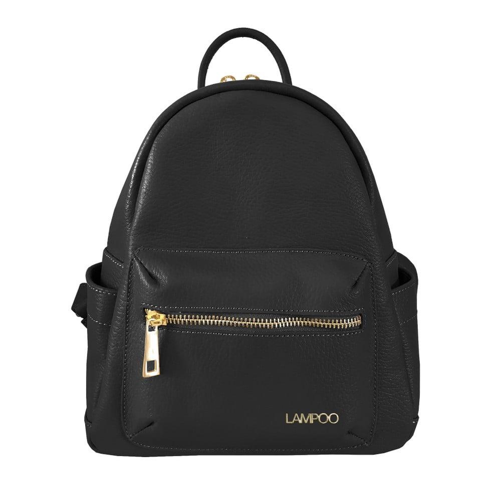 Černý kožený batoh Lampoo Lunda