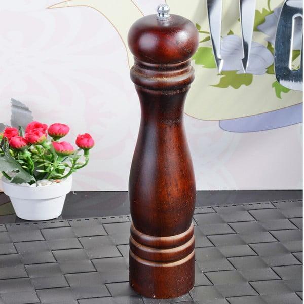 Hnědý bambusový mlýnek na pepř Luxury