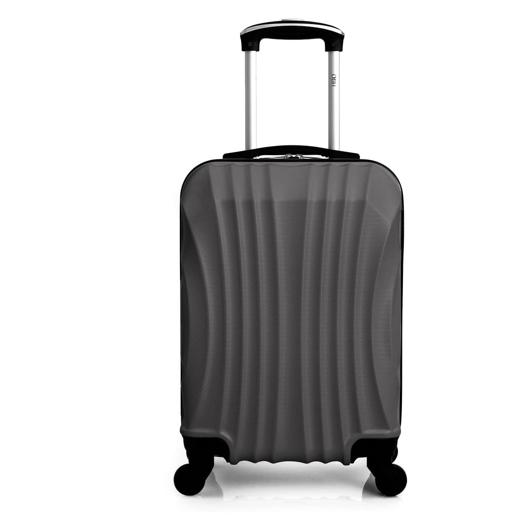 Tmavě šedý cestovní kufr na kolečkách Hero Moscou-e, 30 l