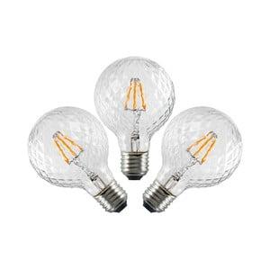 Set 3 becuri LED Bulb Attack GLOBE Clear Crystal Linear, 5,5 W
