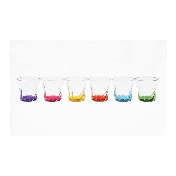 Set skleniček Colored Torsted, 6 ks
