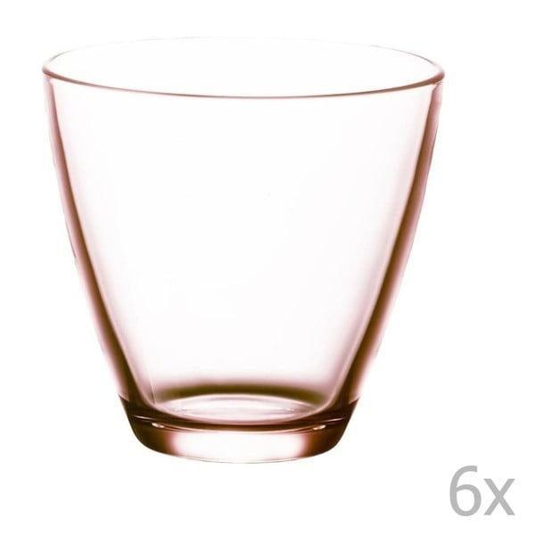 Set 6 pahare de apă Bitz Fluidum, 260 ml, roz