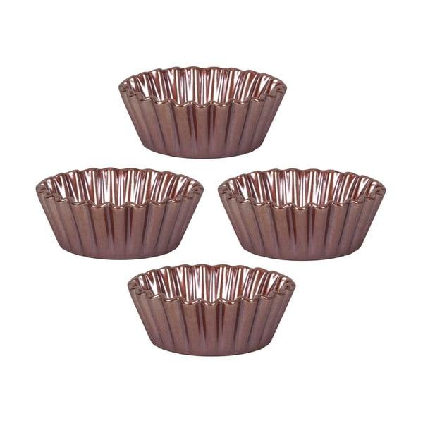 Čtyři formy na košíčky Mini Pie 13 cm, hnědá