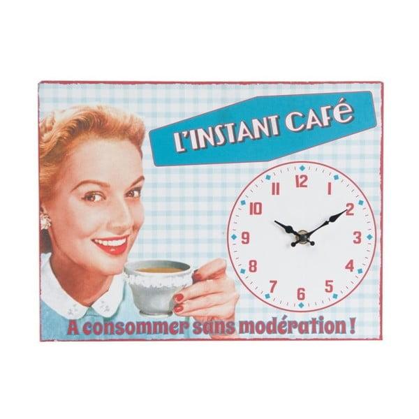 Nástěnné hodiny Instant Café, 32x24 cm