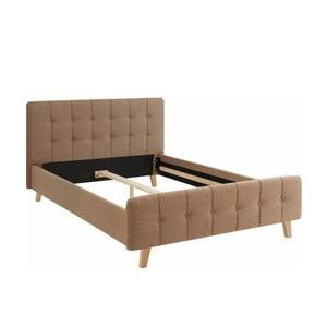 Hnědá dvoulůžková postel Støraa Limbo, 140x200cm