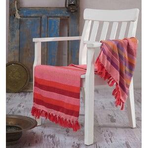 Červená osuška Hammam Renkli, 100x180cm
