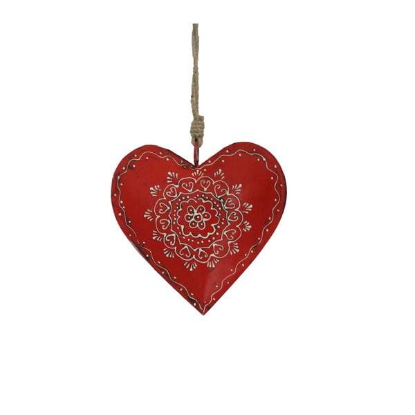 Decorațiune suspendată din lemn în formă de inimă Antic Line Decoration