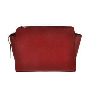 Červená kožená kabelka Matilde Costa Roeli