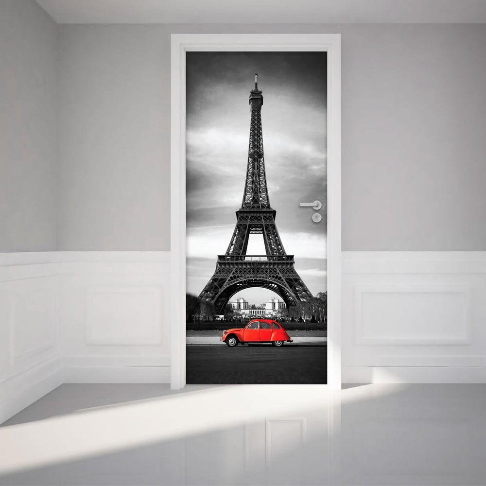 Adhezivní samolepka na dveře Ambiance Eiffel Tower