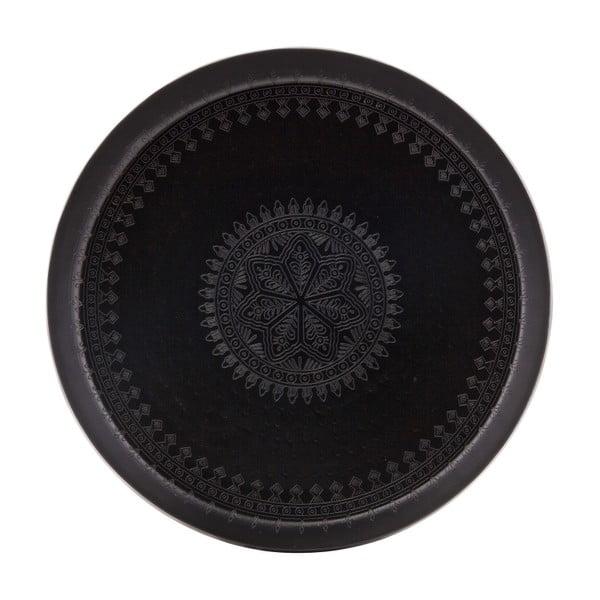 Černý dekorativní podnos BePureHome Waitress, ø 55cm