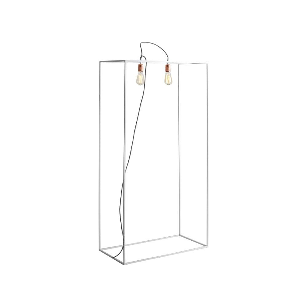 Bílá stojací lampa Custom Form Metric, šířka 70 cm