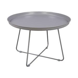 Šedý konferenční stolek Nørdifra Pogorze, Ø63cm
