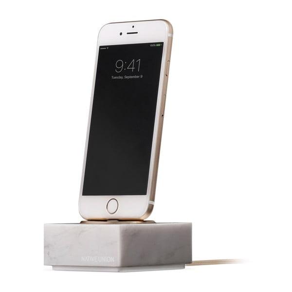 Dock márvány töltő állvány iPhonehoz, kábel hossza 1,2 m - Native Union