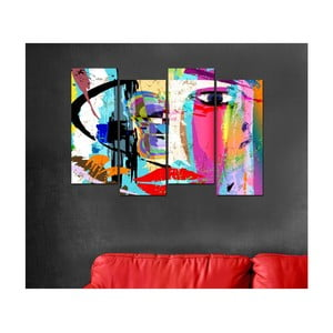 4dílný obraz Pop Art, 20x50cm