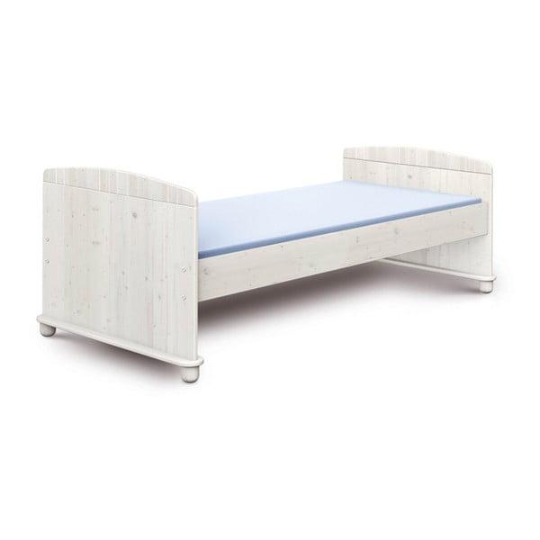 Biela detská posteľ z borovicového dreva Faktum Tomi, 90×200cm
