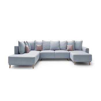 Canapea cu șezlong pe partea dreaptă Bobochic Mola albastru