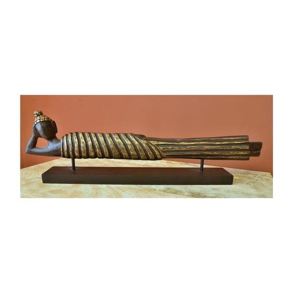 Dřevěná plastika Budhy Indie