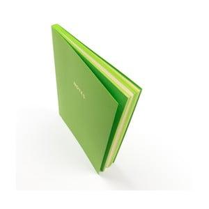 Zelený zápisník A5 GO Stationery Colourblock