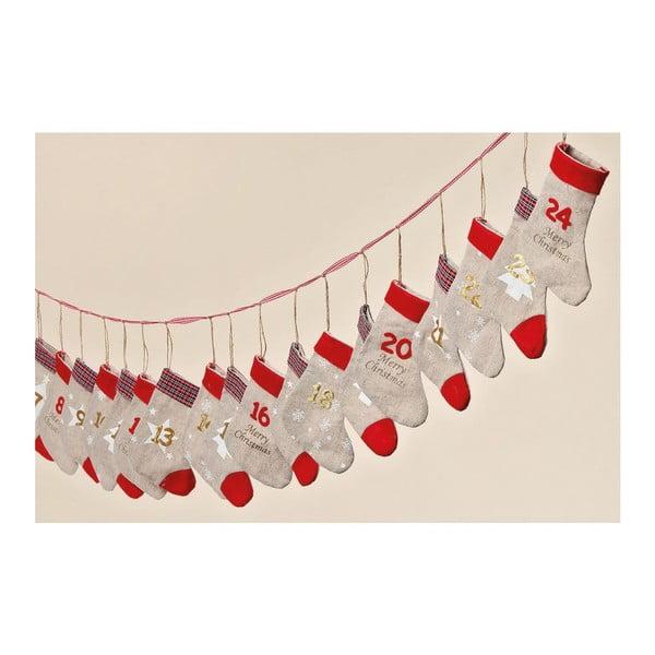 Adventní kalendář Winter Socks, 260 cm