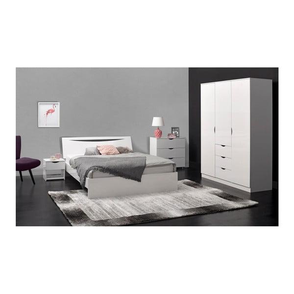 Bílá dvoulůžková postel Artemob Letty, 140 x 200 cm