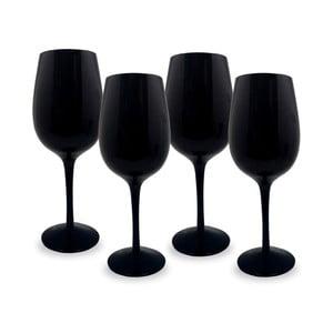 Sada 4 černých sklenic na víno Vin Bouquet Blind, 520 ml