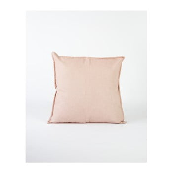 Față de pernă Surdic Lino, 45 x 45 cm, roz deschis poza
