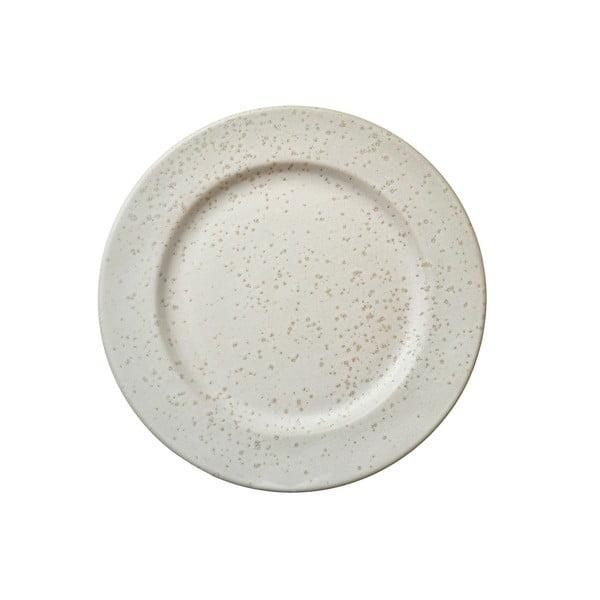 Krémový kameninový dezertní talíř Bitz Basics Matte Cream, ⌀ 22 cm