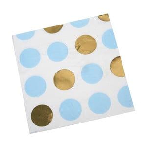 Sada 16 modrých ubrousků Neviti Pattern Works