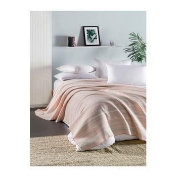 Cuvertură subțire matlasată pentru pat de o persoană Runino Mento, 160 x 220 cm, roz de la EnLora Home