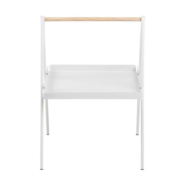 Bílý odkládací stolek Actona Ecktisch