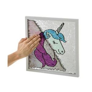 Obraz s flitry Unimasa Unicorn,35x35cm