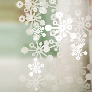 Bubble závěs, 100x100 cm, bílá