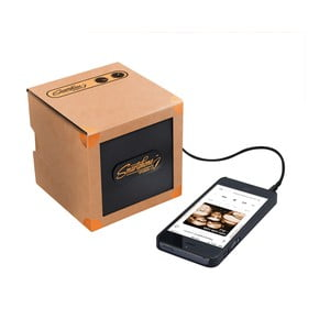 Přenosný reproduktor Luckies of London Smartphone Speaker Copper