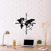Černá kovová nástěnná dekorace Compass World Map, 48 x 50 cm