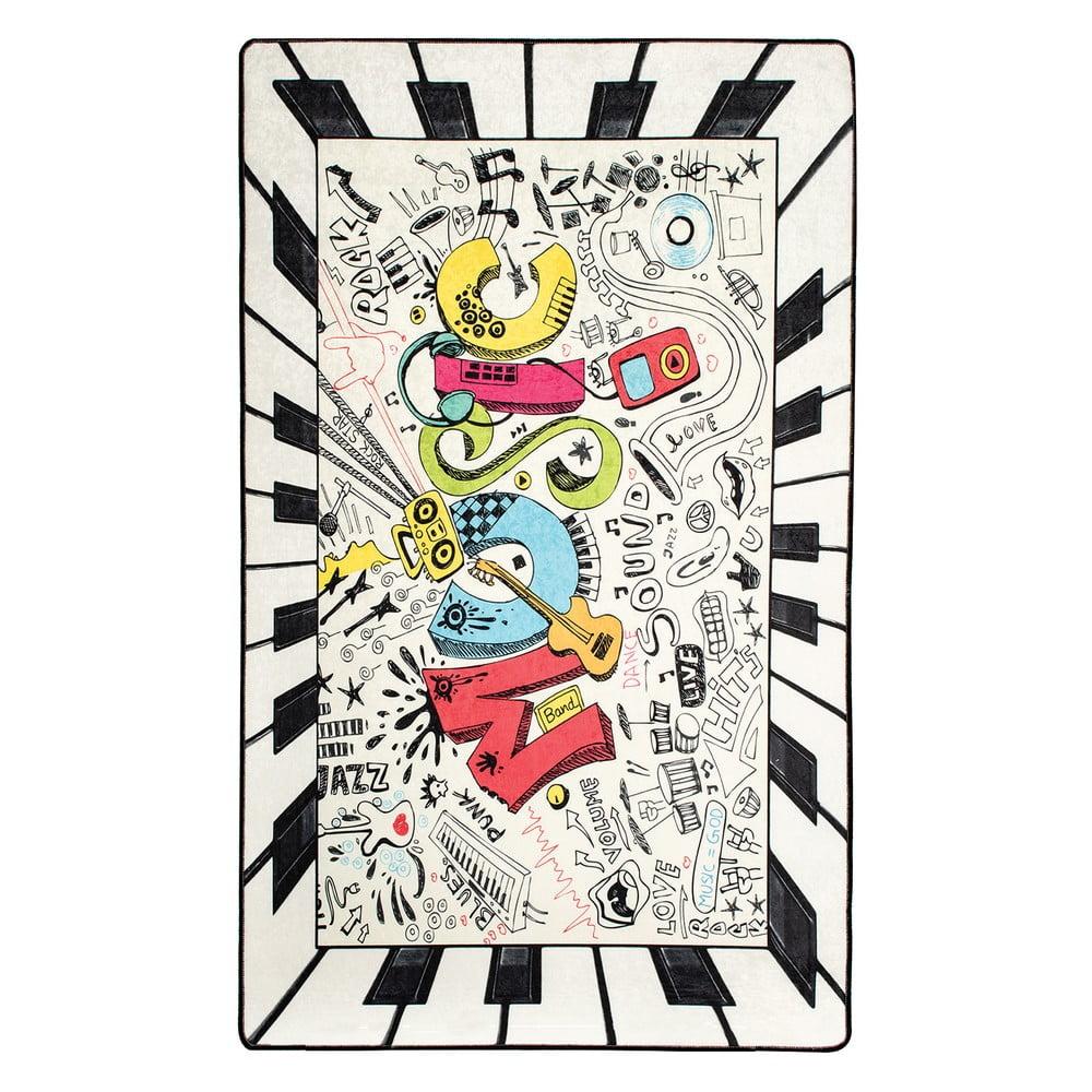 Dětský protiskluzový koberec Chilai Music,100x160cm