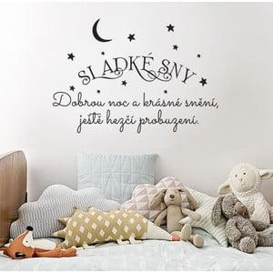 Samolepka na zeď Sladké sny, 70x50 cm