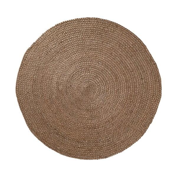 Jutový koberec Dip Ø100 cm, hnědý