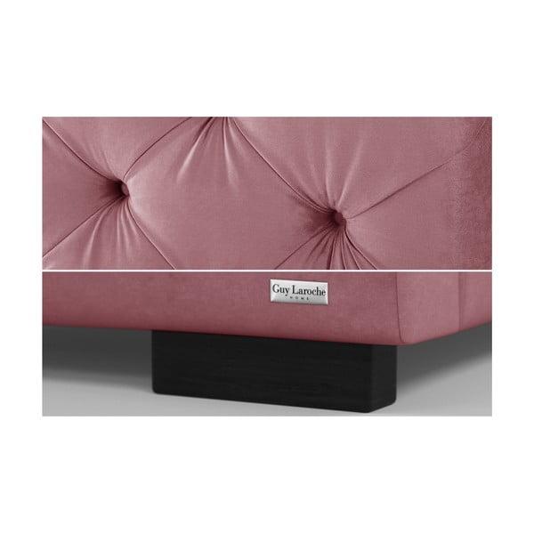 Růžová dvoulůžková postel s úložným prostorem Guy Laroche Home Fantasy, 160x200cm