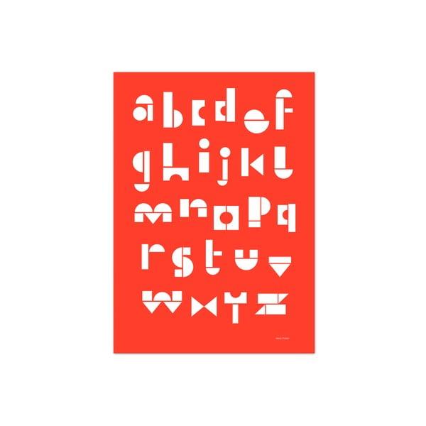Plakát SNUG.ABC, 50x70 cm, červený