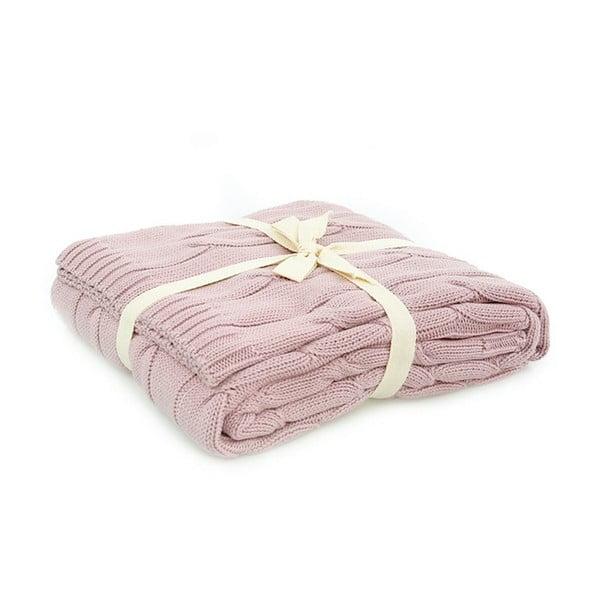 Růžová bavlněná deka Couture