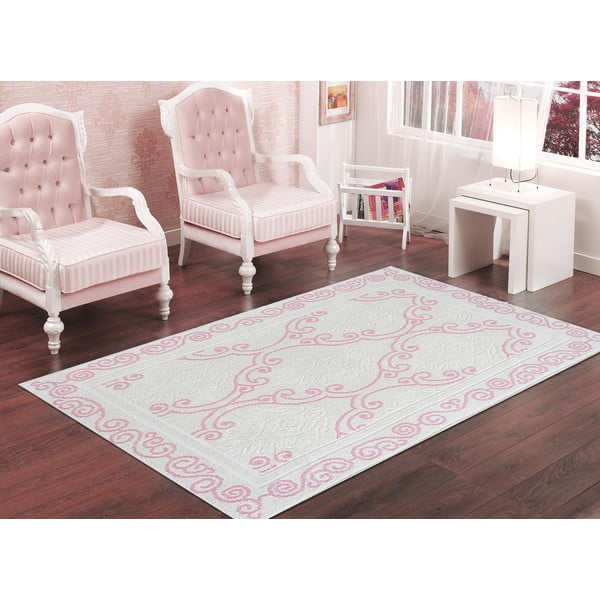Pudrově růžový odolný koberec Vitaus Primrose, 80x200cm