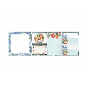 Sada lepících papírků na poznámky Portico Designs Bleu Floral