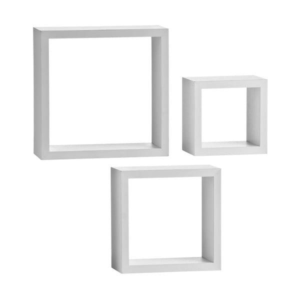 Nástěnné poličky Cubes White