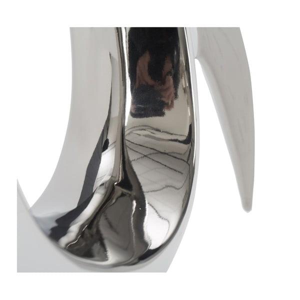 Keramická váza ve stříbrné barvě Mauro Ferretti Snake B