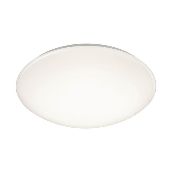 Biała okrągła lampa sufitowa LED Trio Putz, średnica 40 cm
