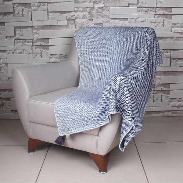 Modro-bílá deka Tete