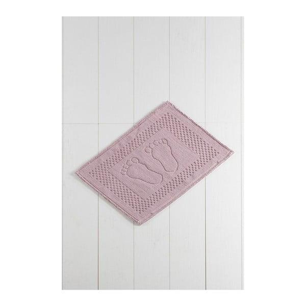 Różowy dywanik łazienkowy Carrisma Mento, 70x50 cm