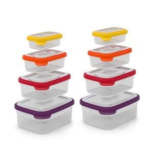 Kompaktní sada 8 misek na jídlo Nest